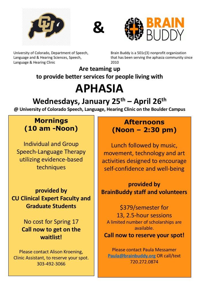 Aphasia Program Spring 2017