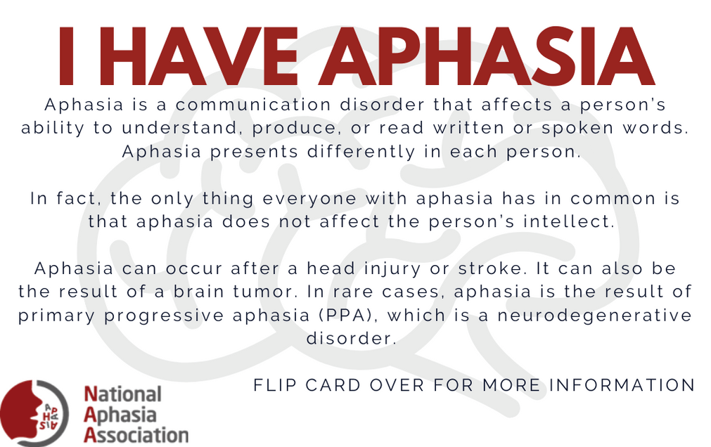Aphasia Card Front